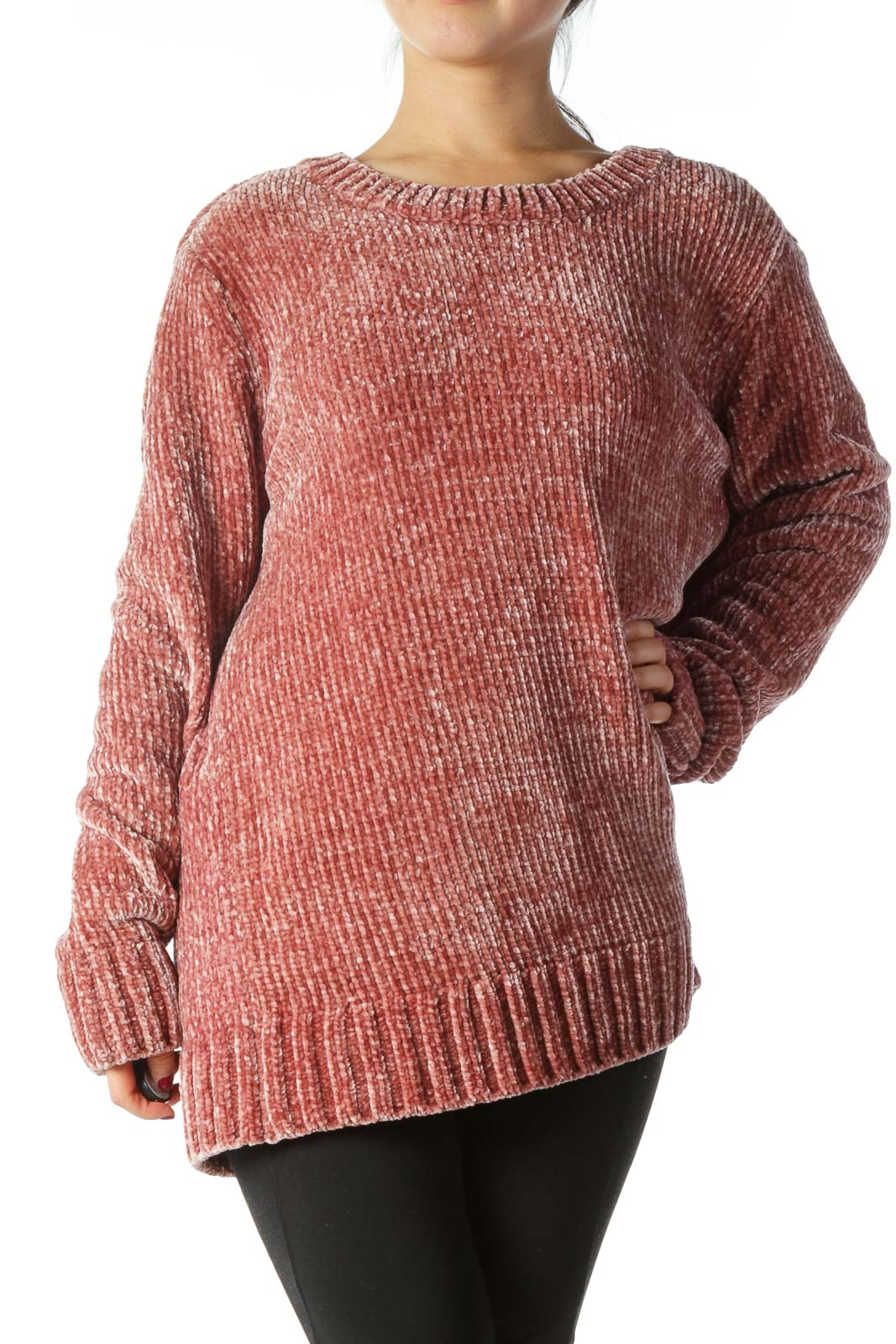 Pink Oversized Knit Sweater