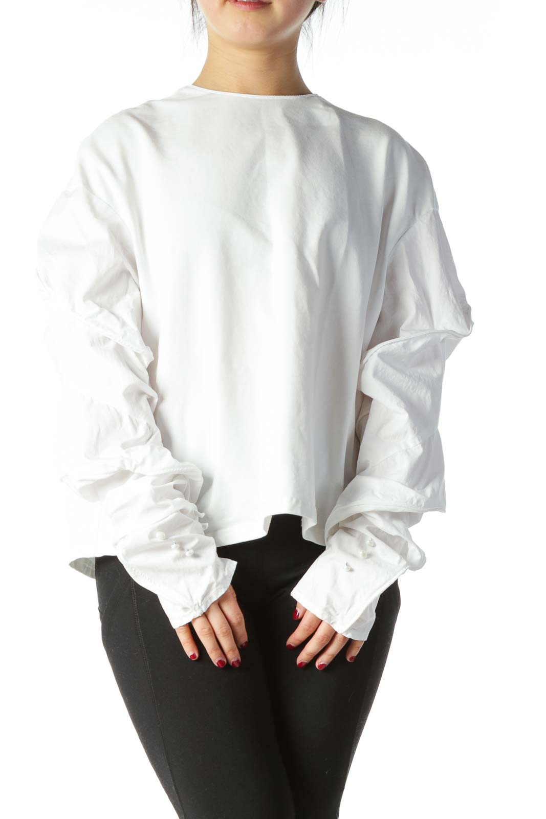 White and Gold Blouse