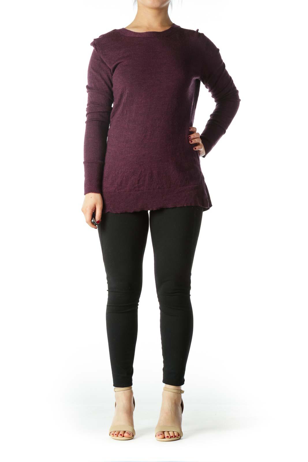 Purple 100% Extra Fine Wool Sweater