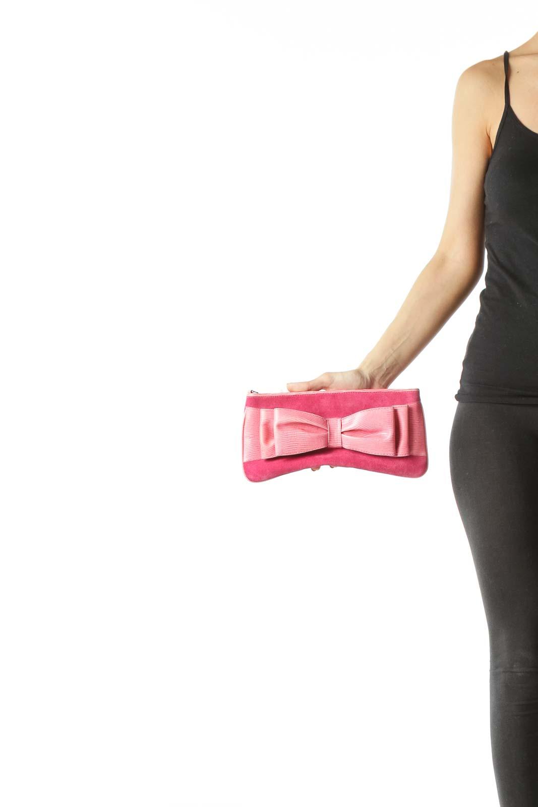 Pink Suede Wallet