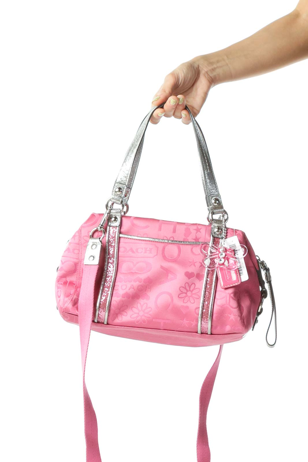 Pink Sequined Crossbody Bag