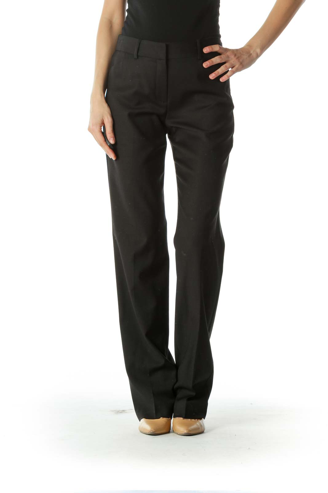 Black Straight Leg Pants