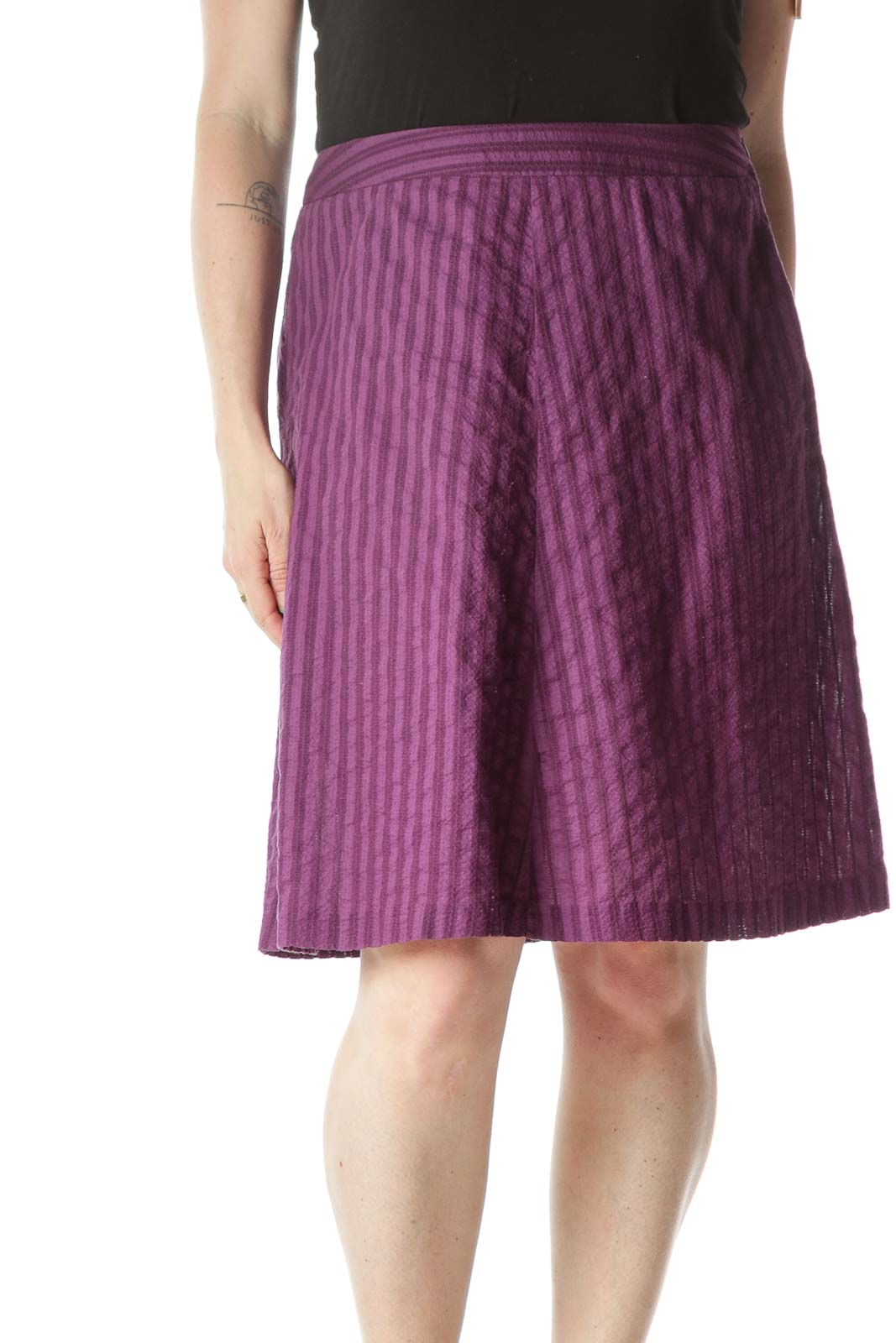 Purple Light-Weight A-Line Skirt