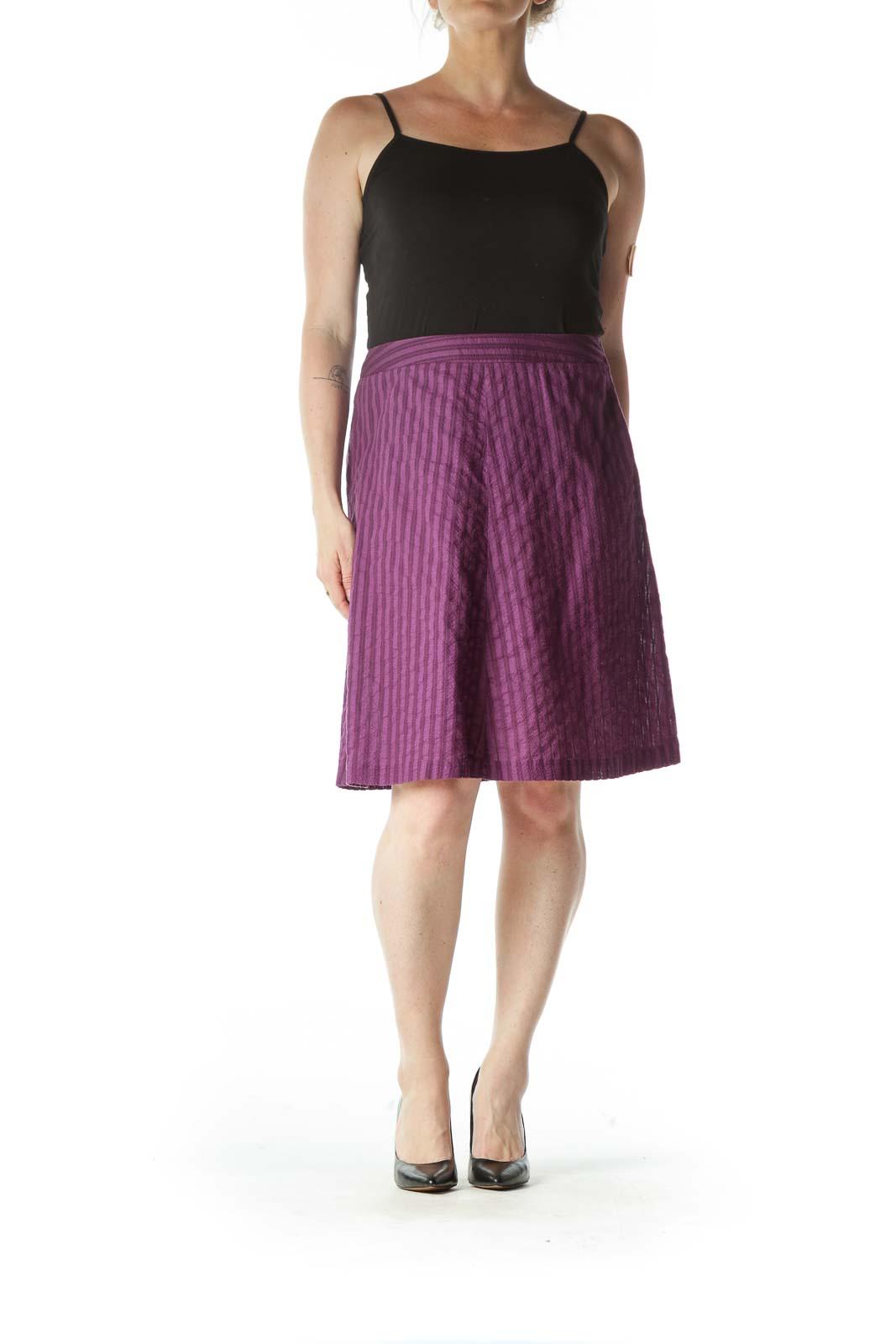 Purple Light-Weight A-Line Skirt