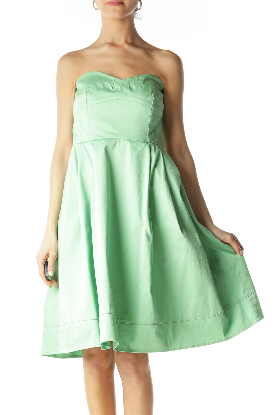 Green Strapless Dress