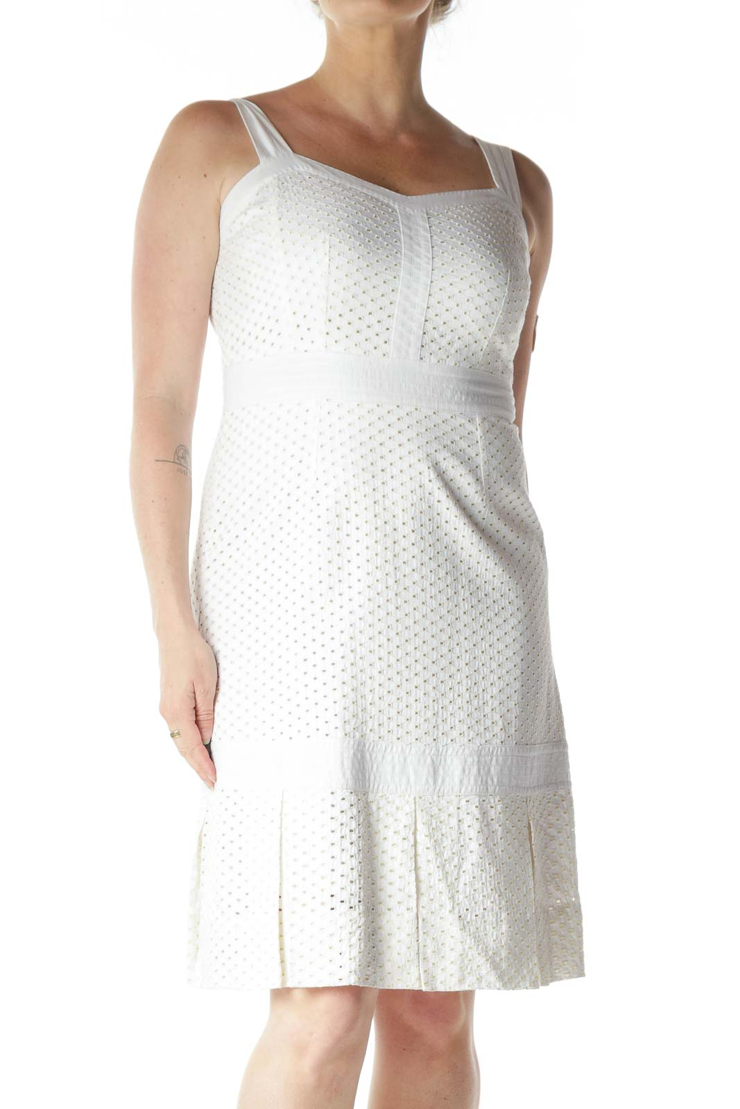White Eyelet Designer Sundress