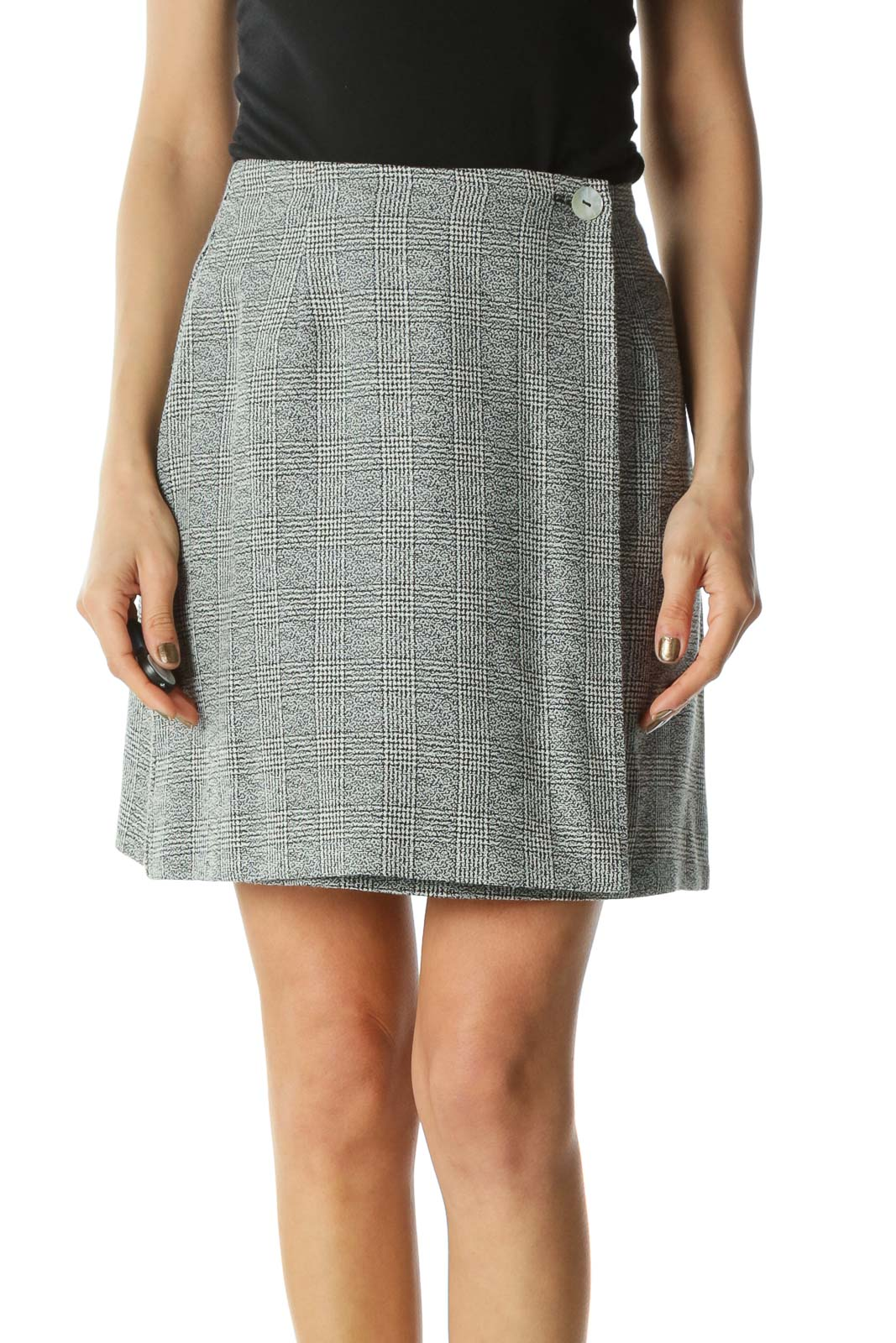 Gray Plaid Skirt