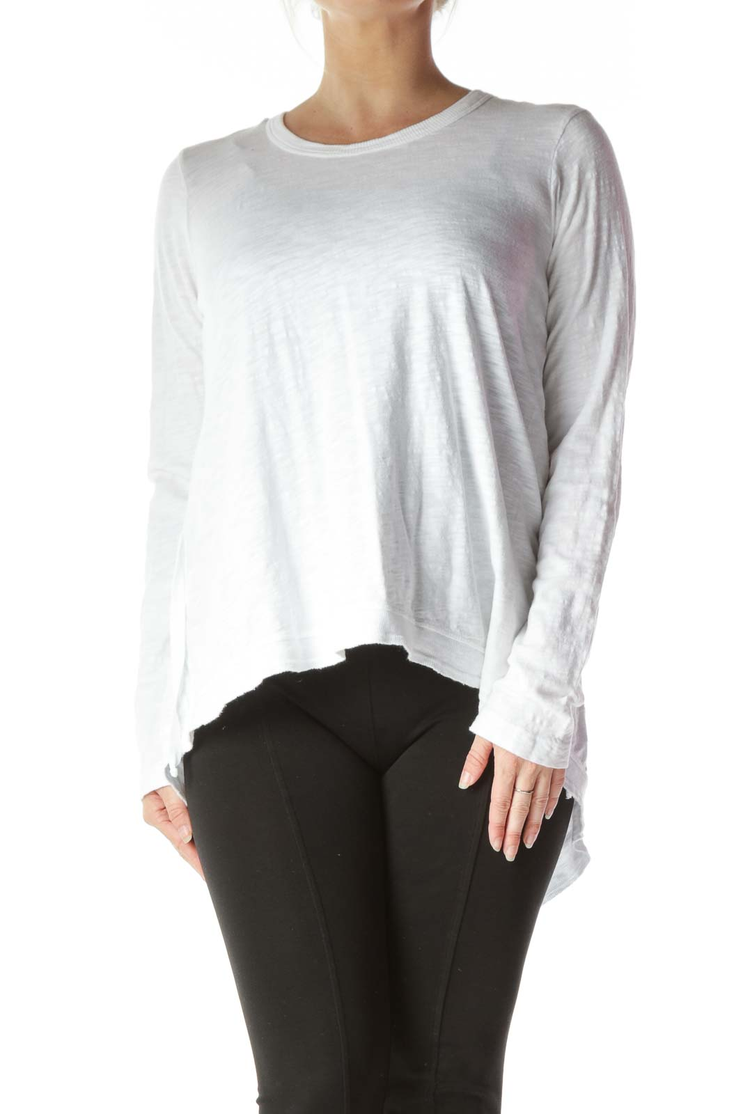 White Mottled Long Sleeve
