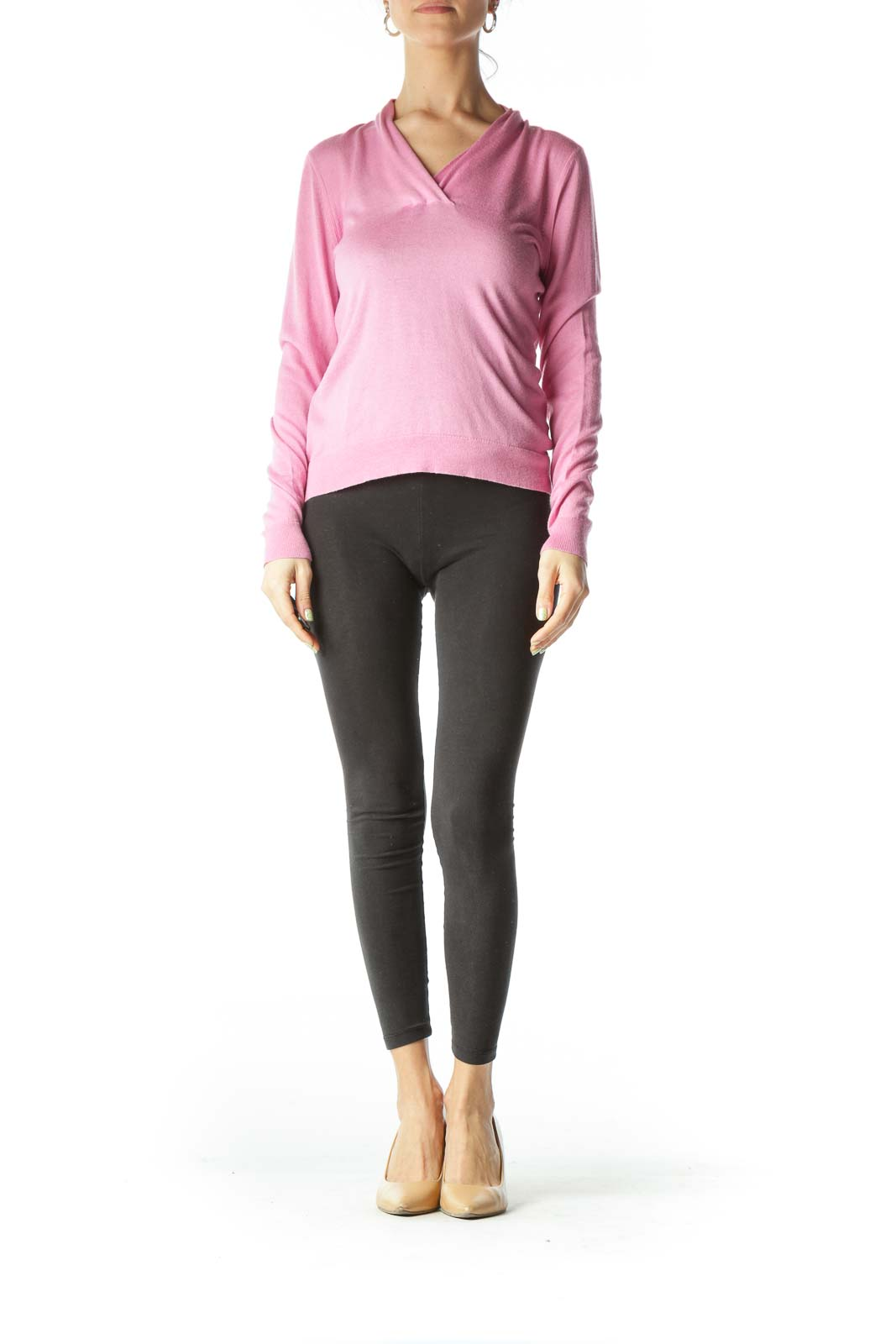 Pink Cashmere Knit Top