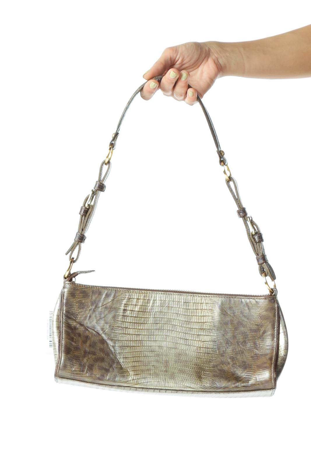 Gold Animal Pattern Shoulder Bag
