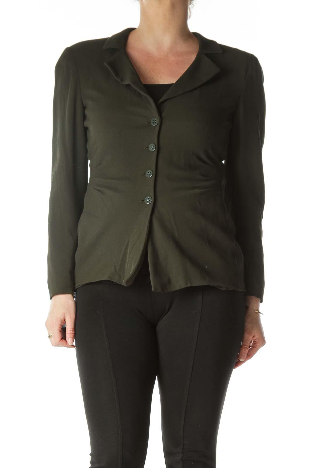Green Designer Light-Layer Blazer