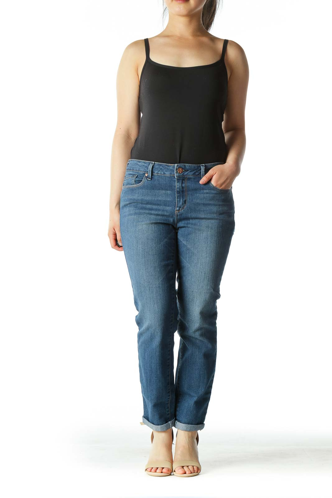 Blue Medium Wash Skinny Denim Jeans