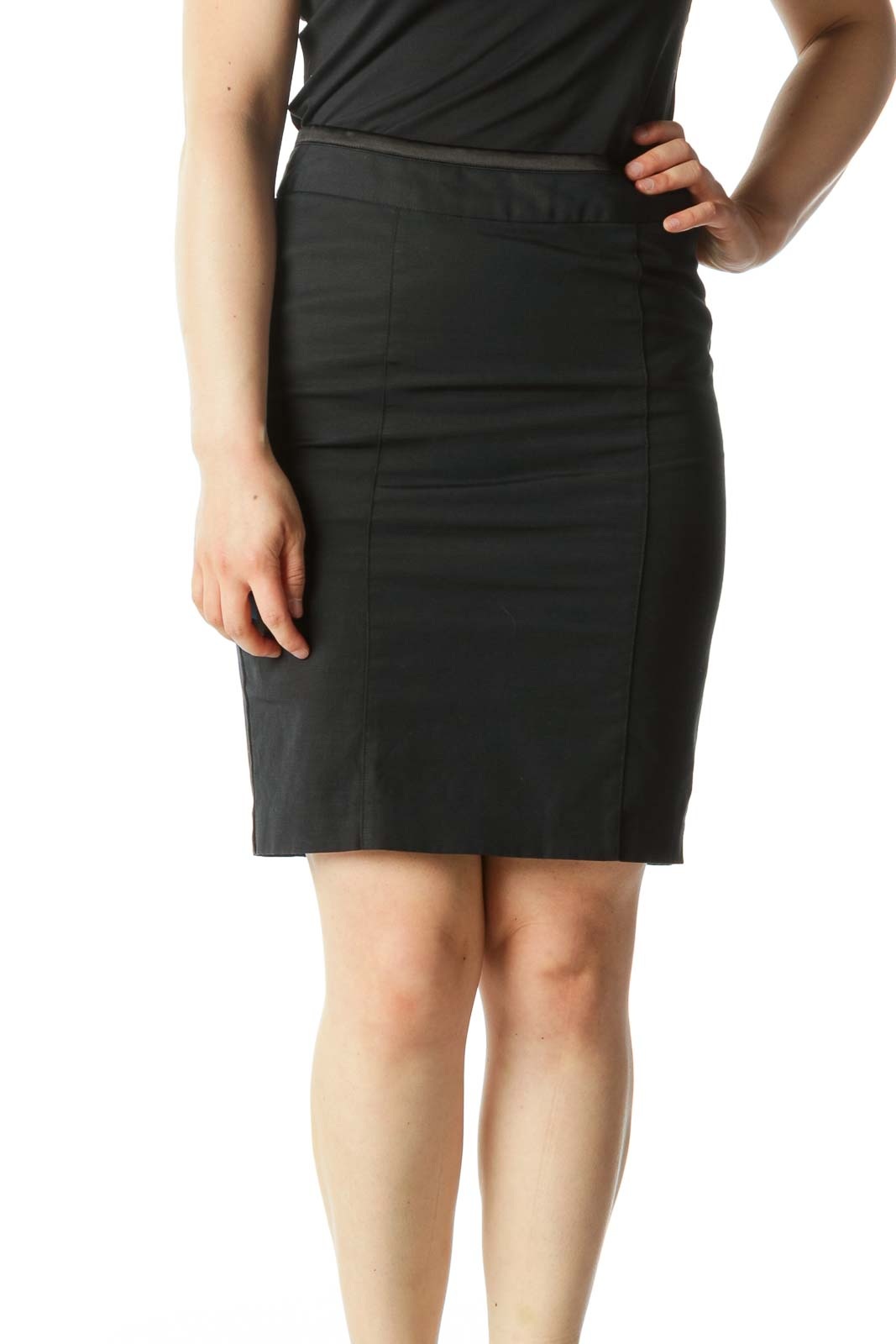 2ebed9a3c Shop Black Textured Pencil Skirt clothing and handbags at SilkRoll ...