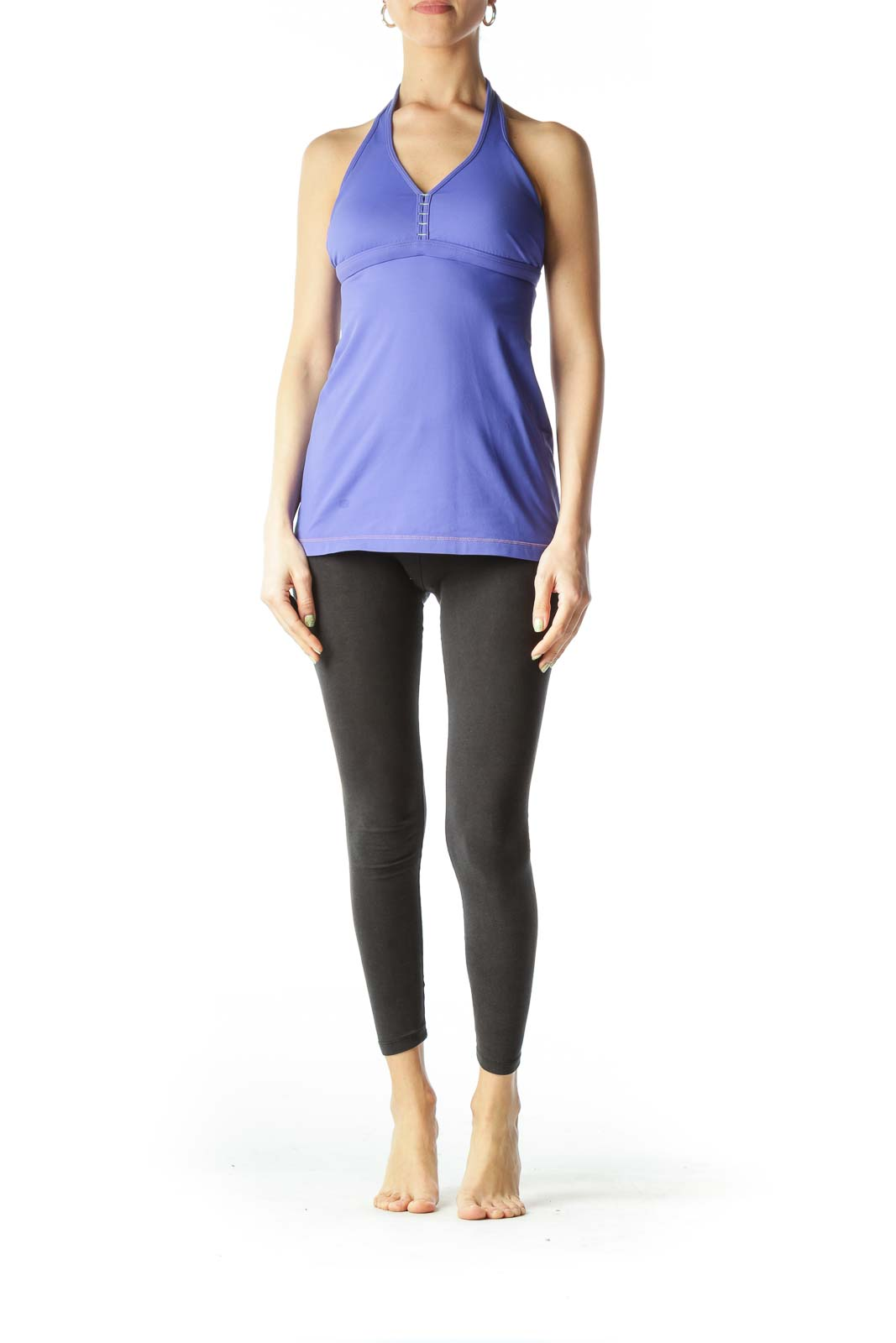 Purple Haltered Yoga Tank