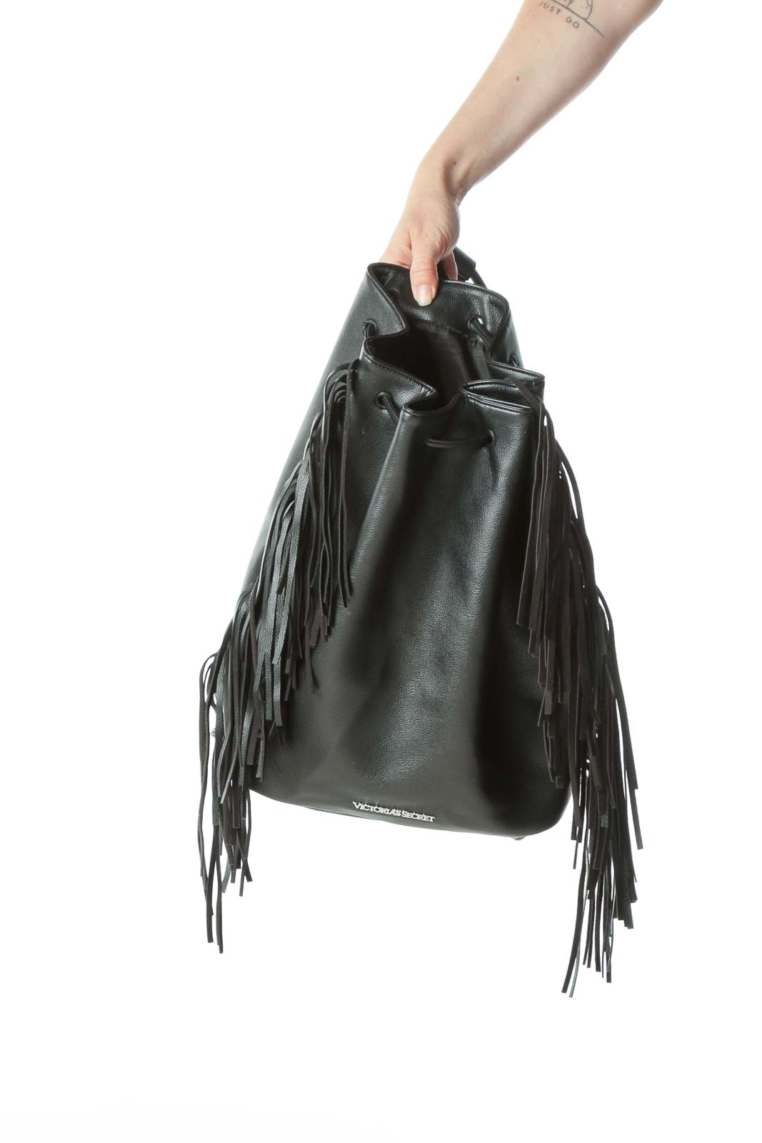 Black Fringed Accents Backpack