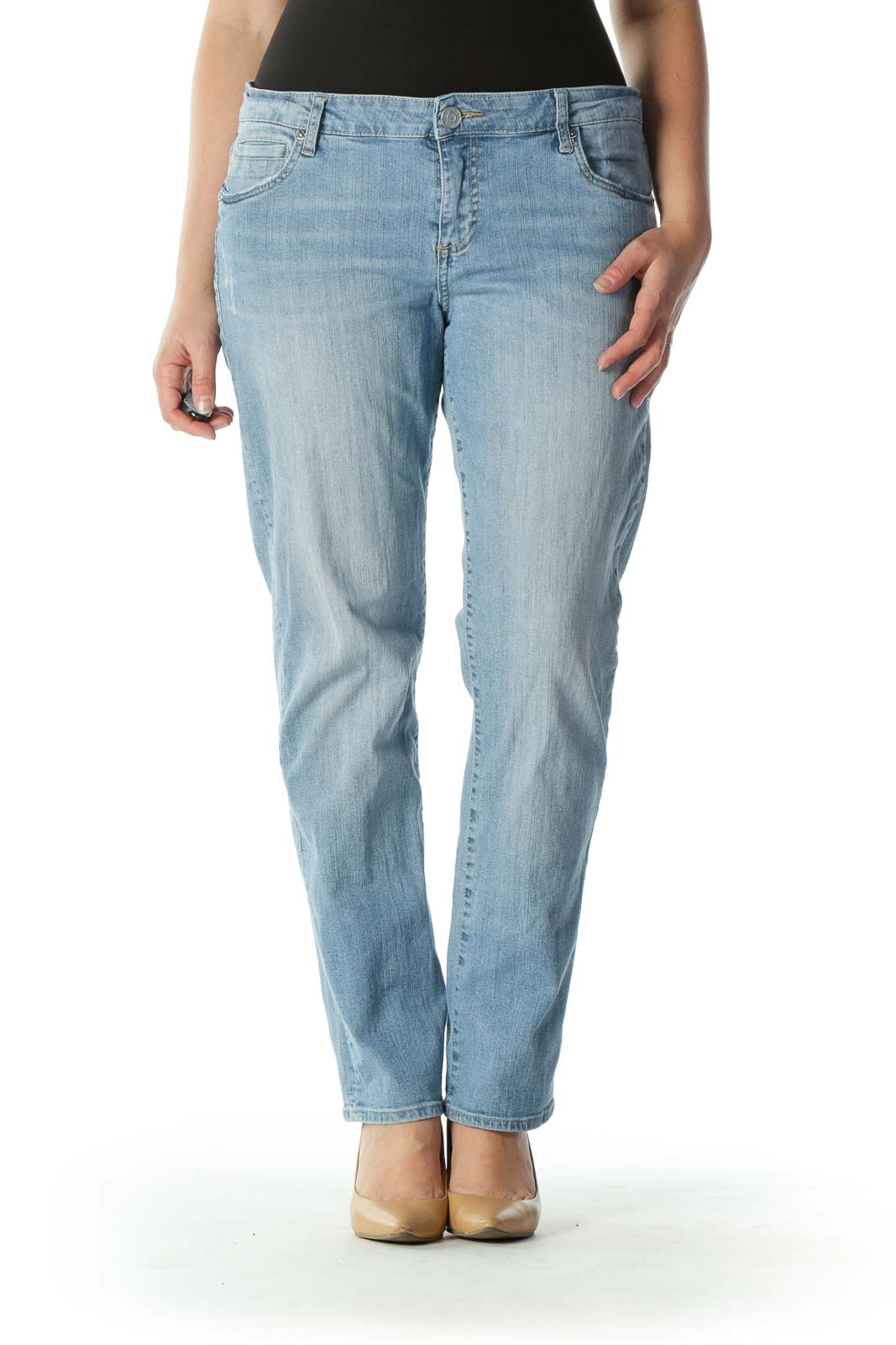 Blue Light Wash Denim Skinny Jeans