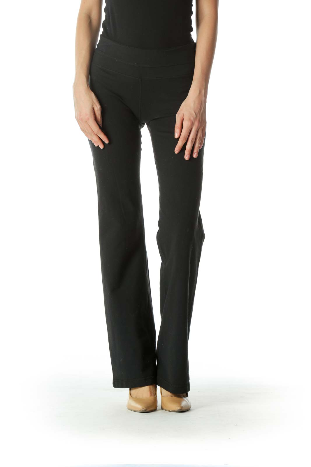 Black Stretchy Flared Sports Pants
