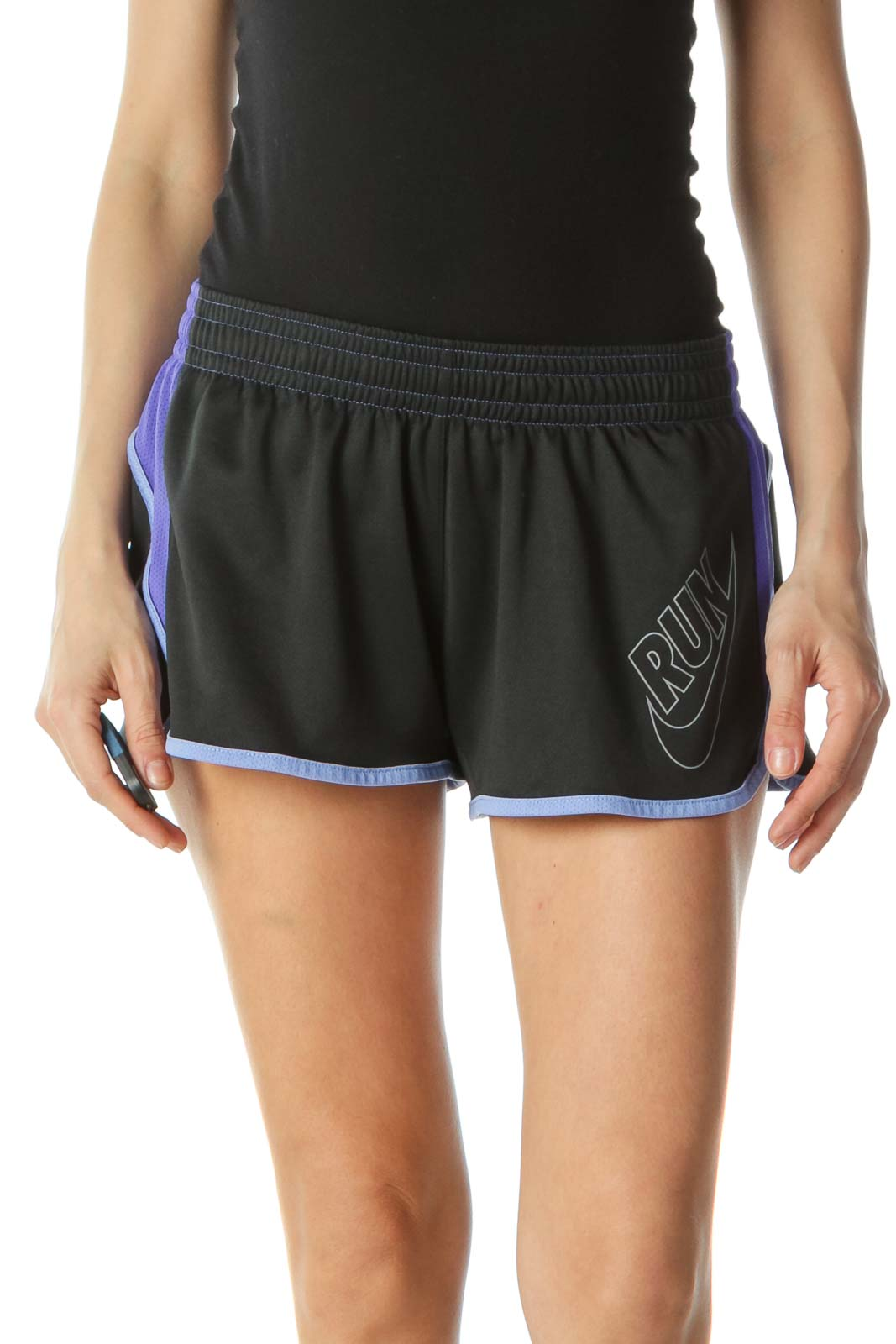Black and Purple Sport Shorts