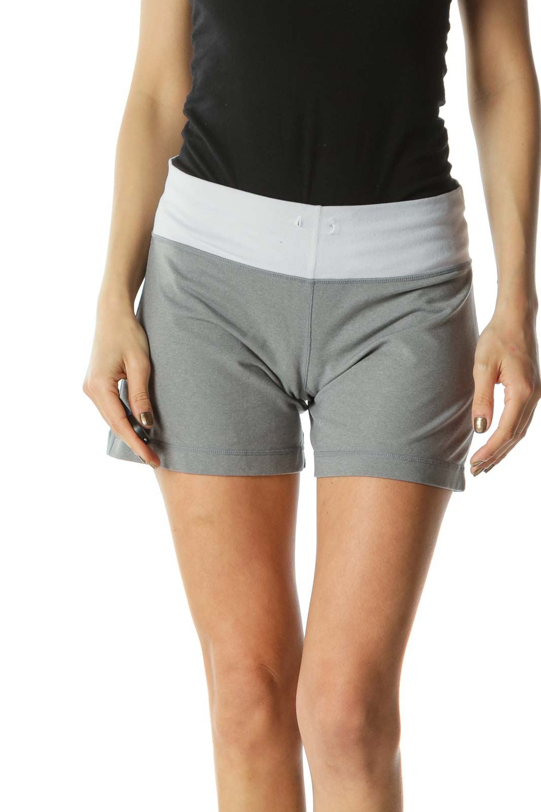 Grey Stretch Activewear Shorts