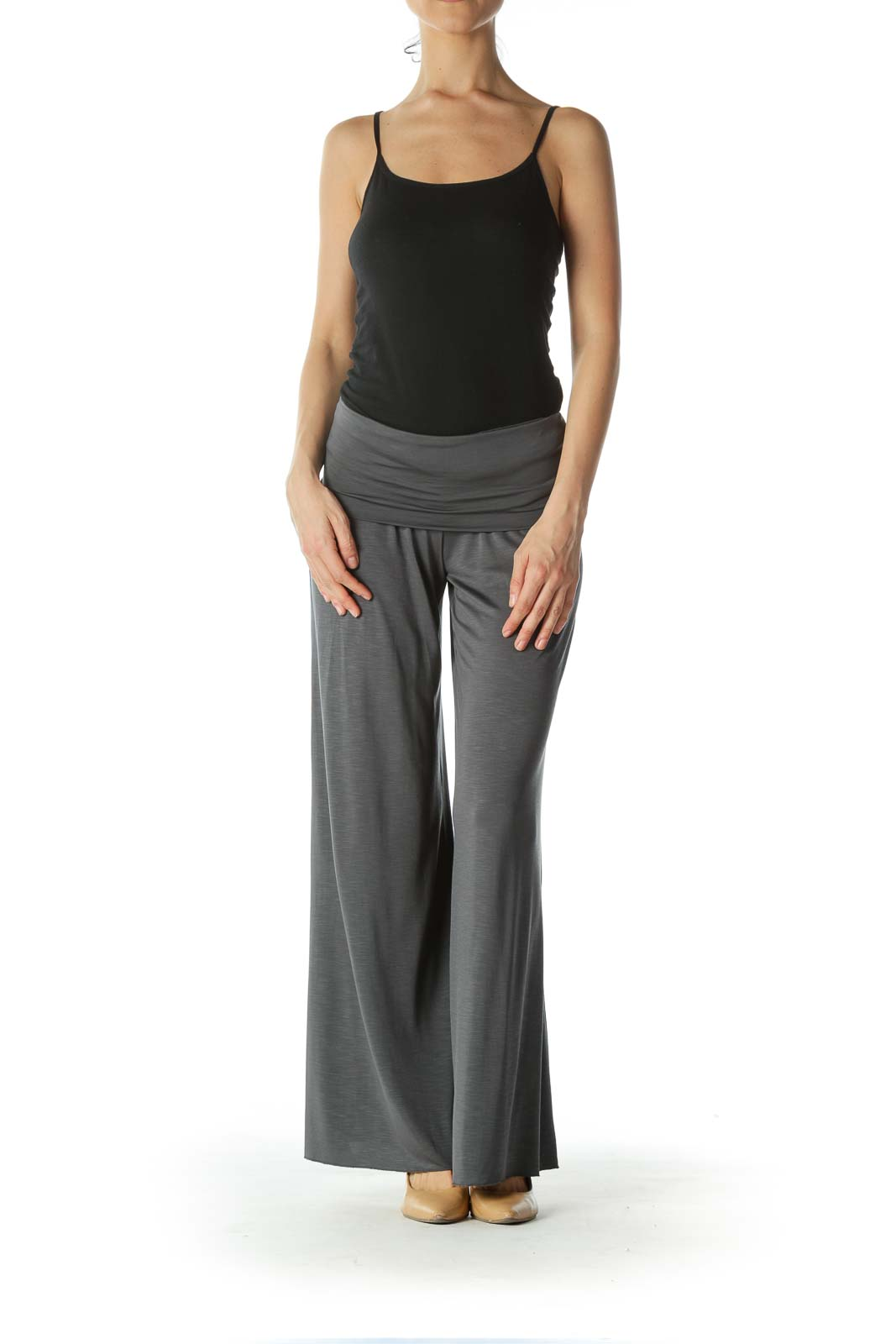 Gray Gaucho High Waisted Pant