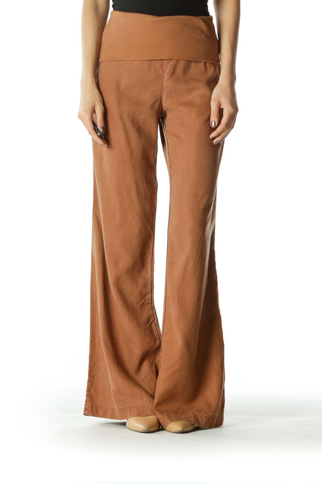 Brown Wide Leg Pants