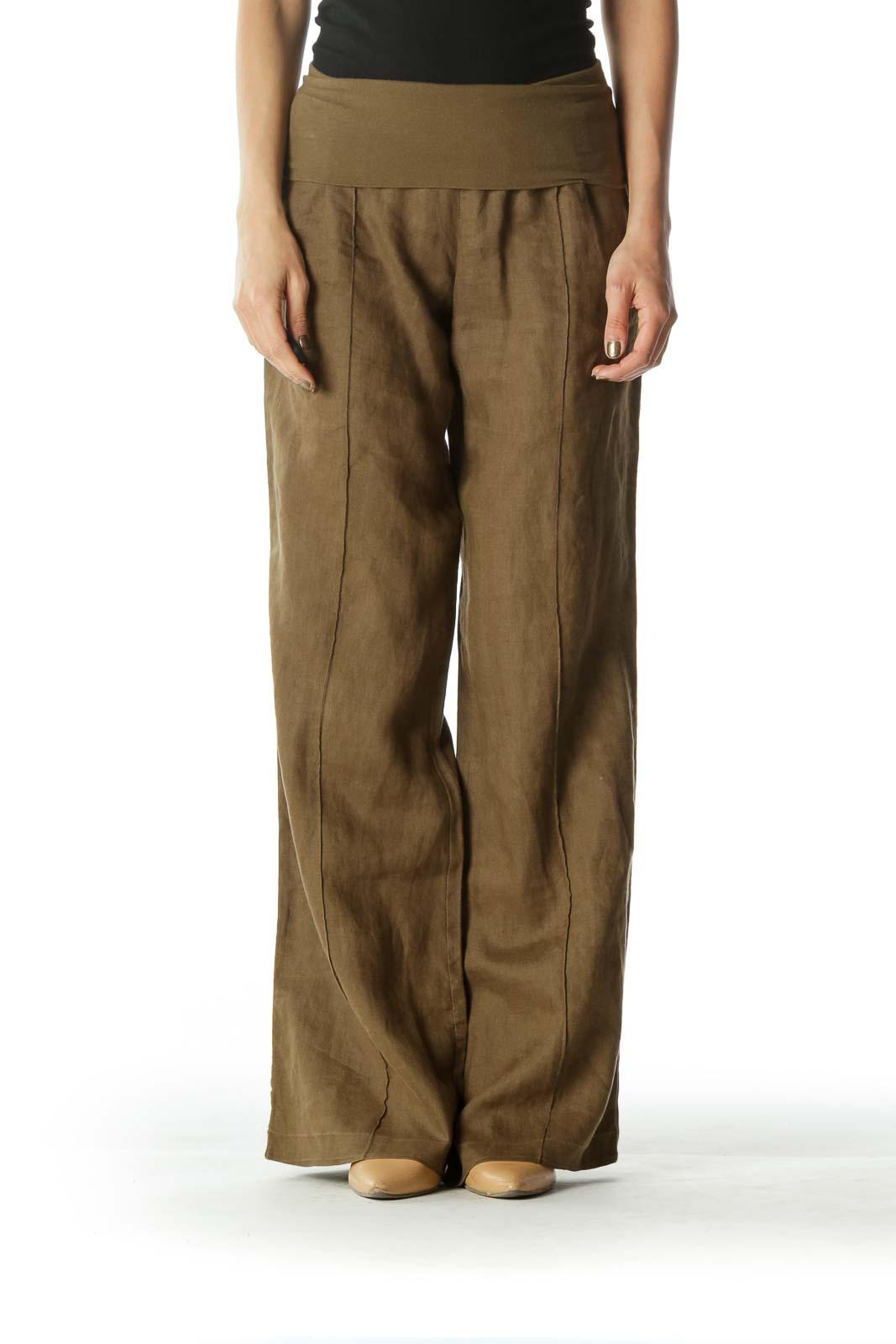 Green Gaucho Pants
