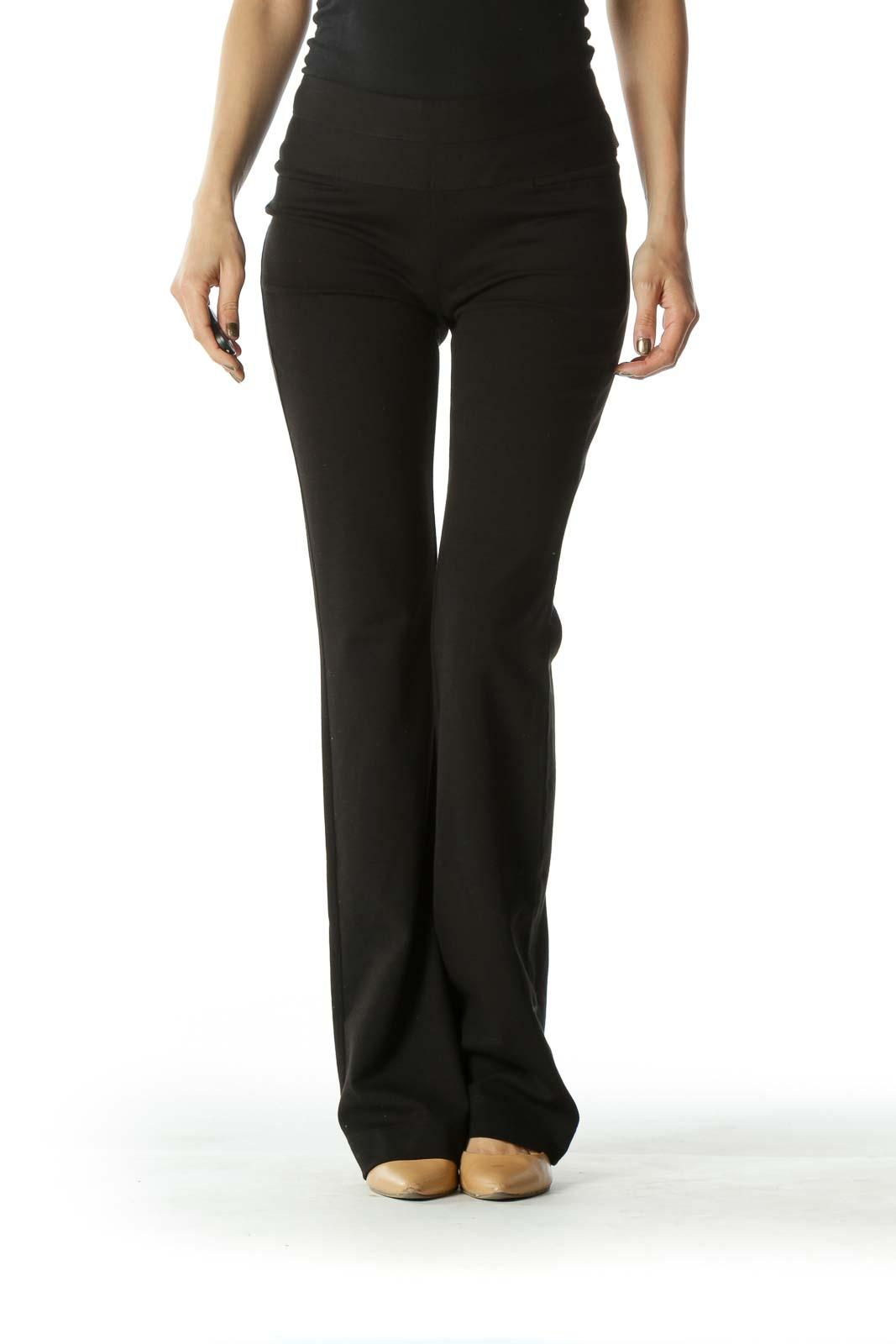 Black Straight Leg Stretch Pants