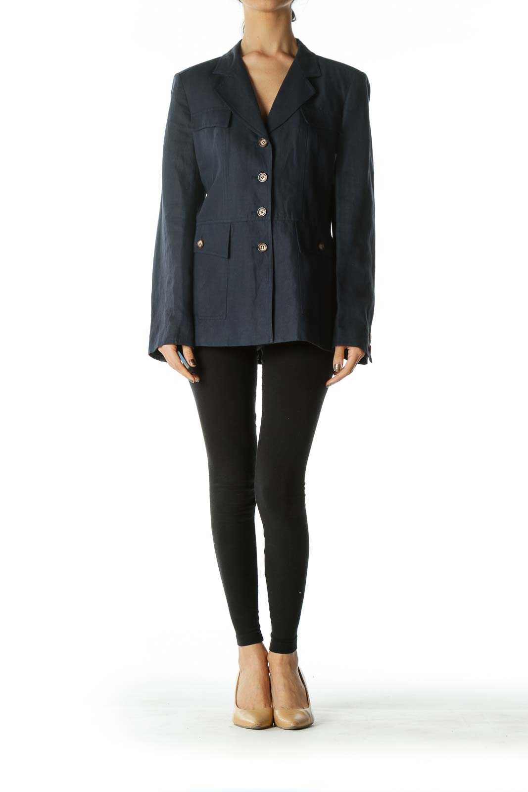 Navy Button Pocket Blazer