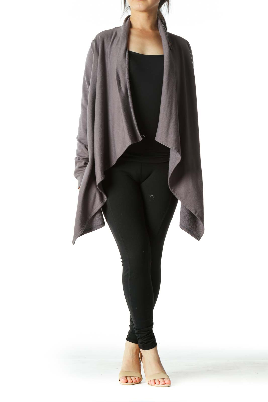 Gray Poncho Loose Jacket