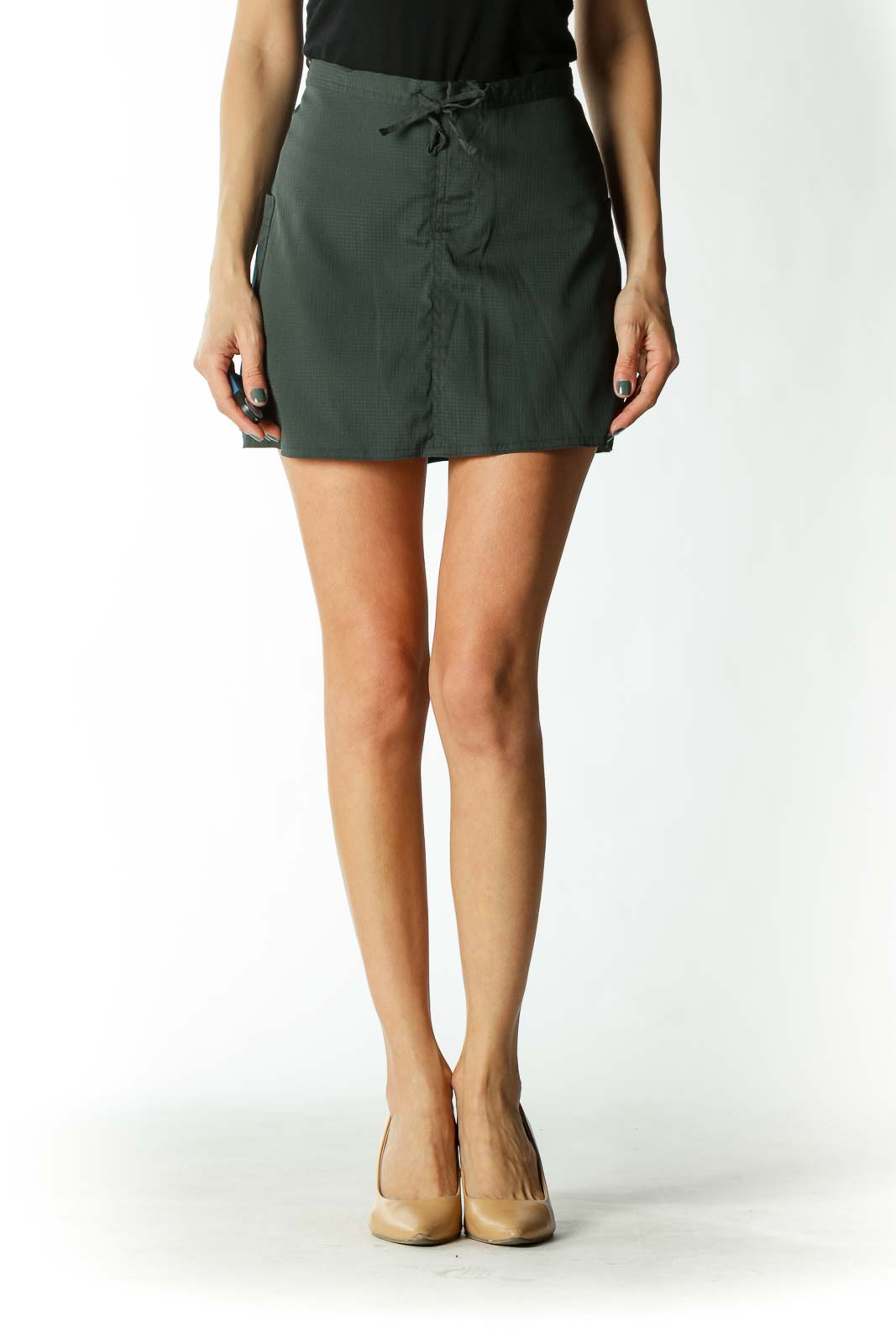 Green Skirt with Shorts