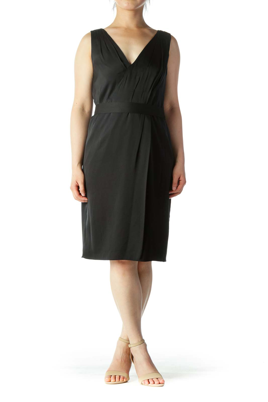 Black Belted Work Dress