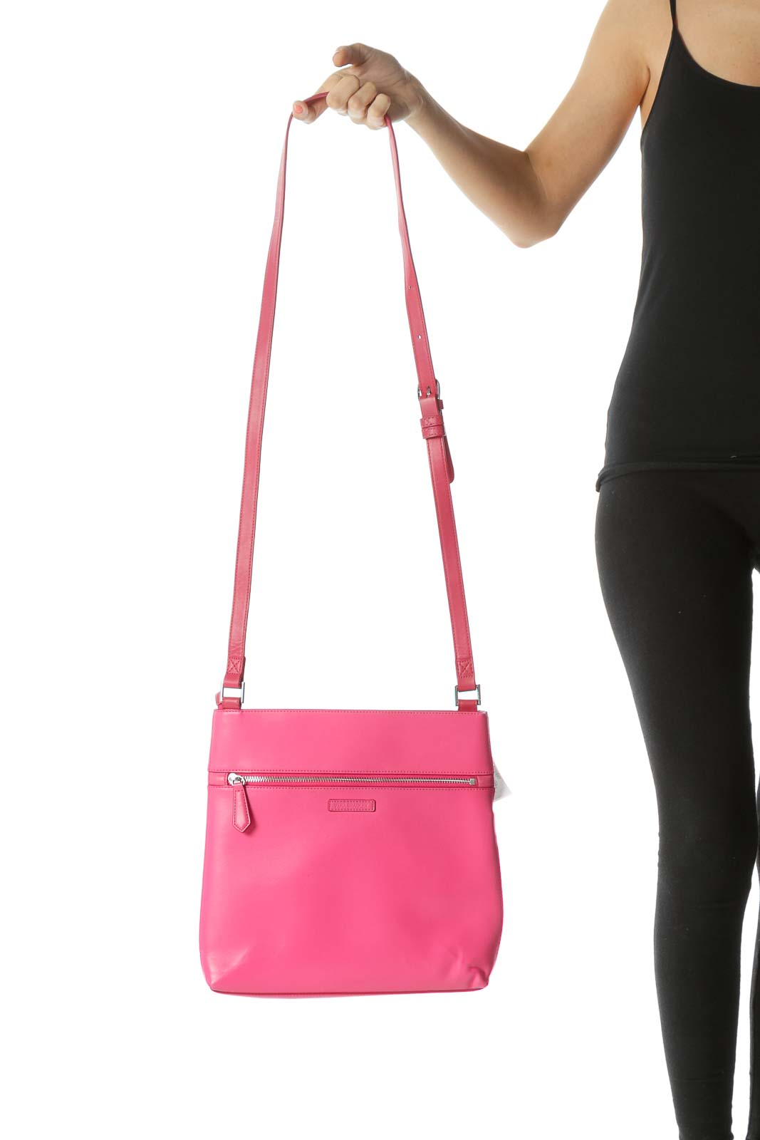 Hot Pink Color-Blocked Faux-Leather Tote
