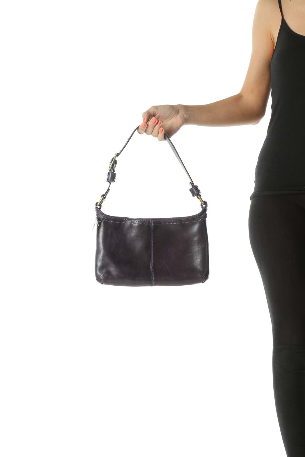 Purple Zippered Shoulder Bag