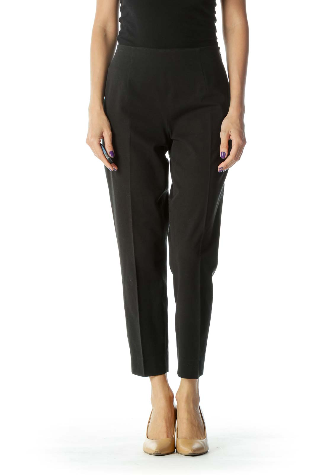 Black High Waist Tapered Pant