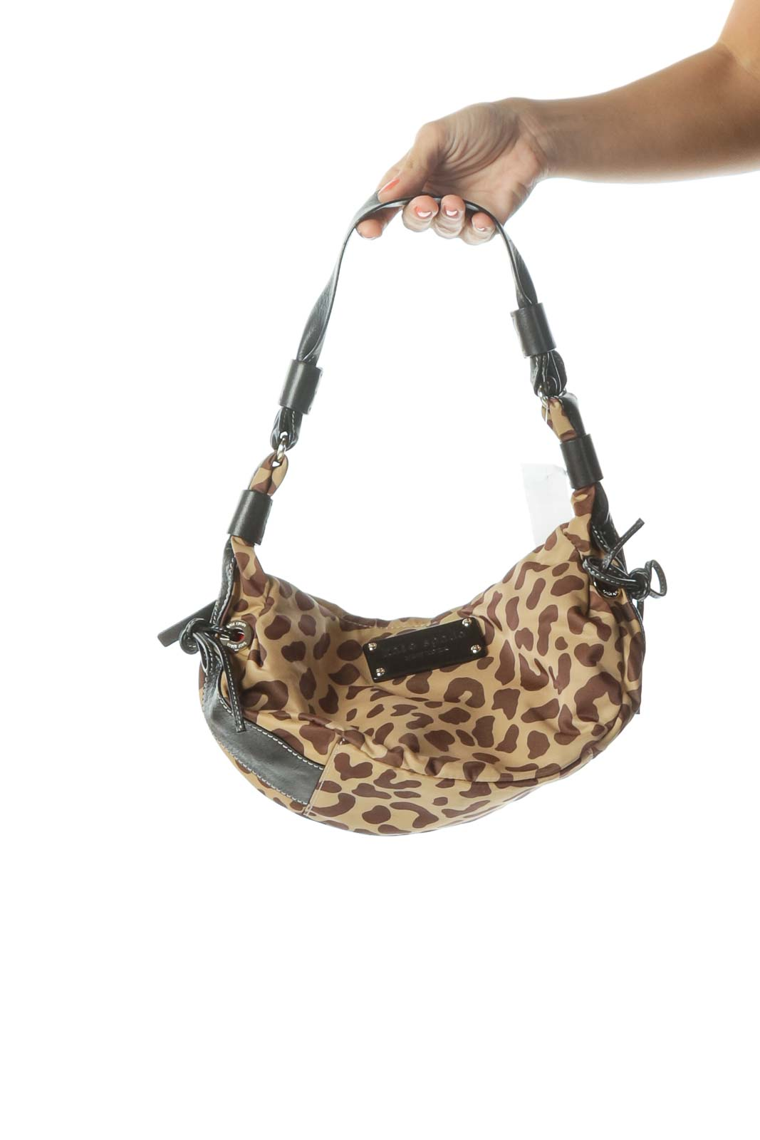 Animal Print Leather Shoulder Bag