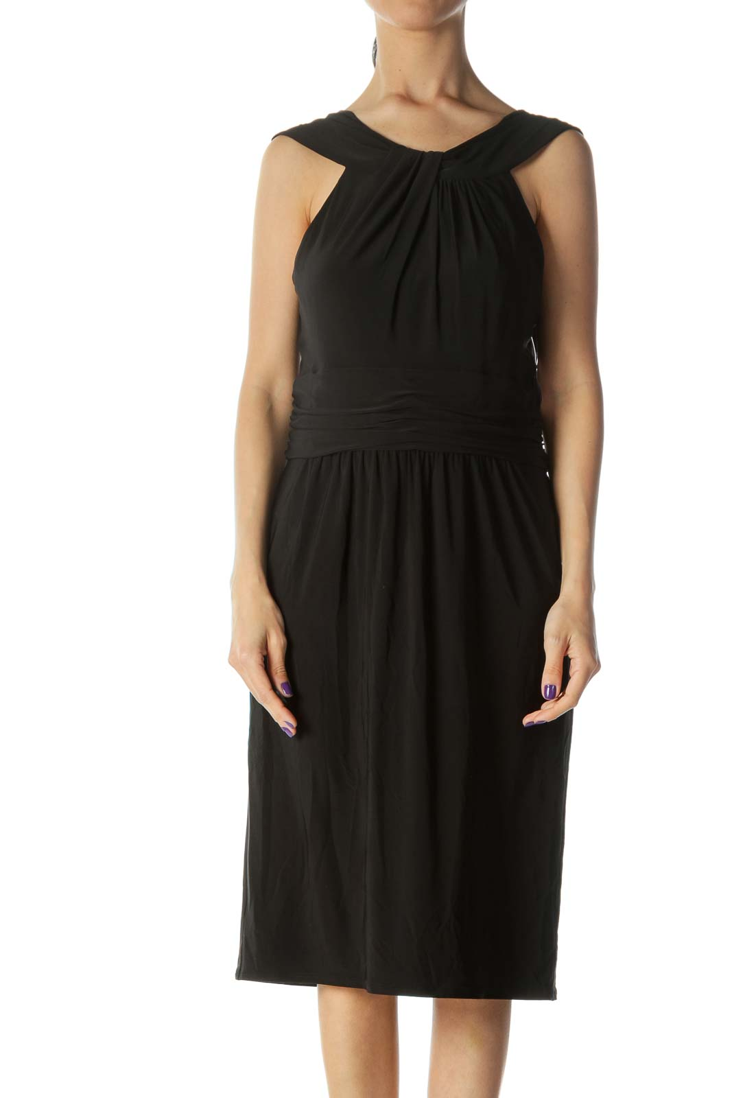 Black Sleeveless Evening Dress