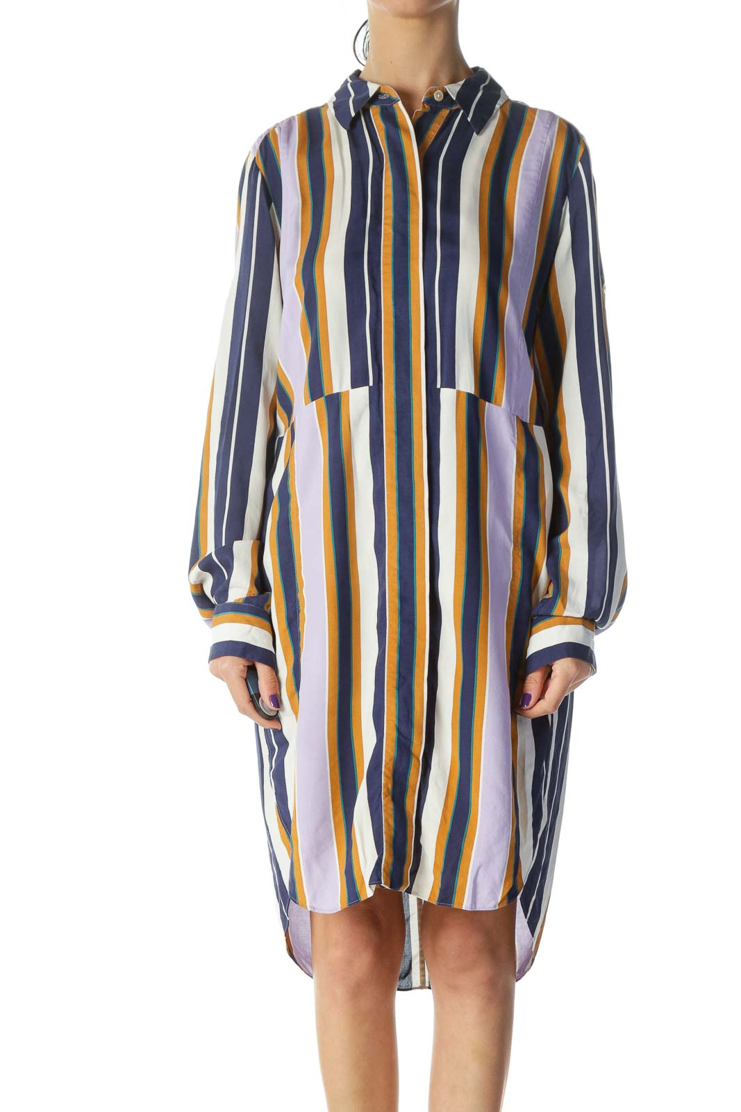 Multicolored Shirt Dress