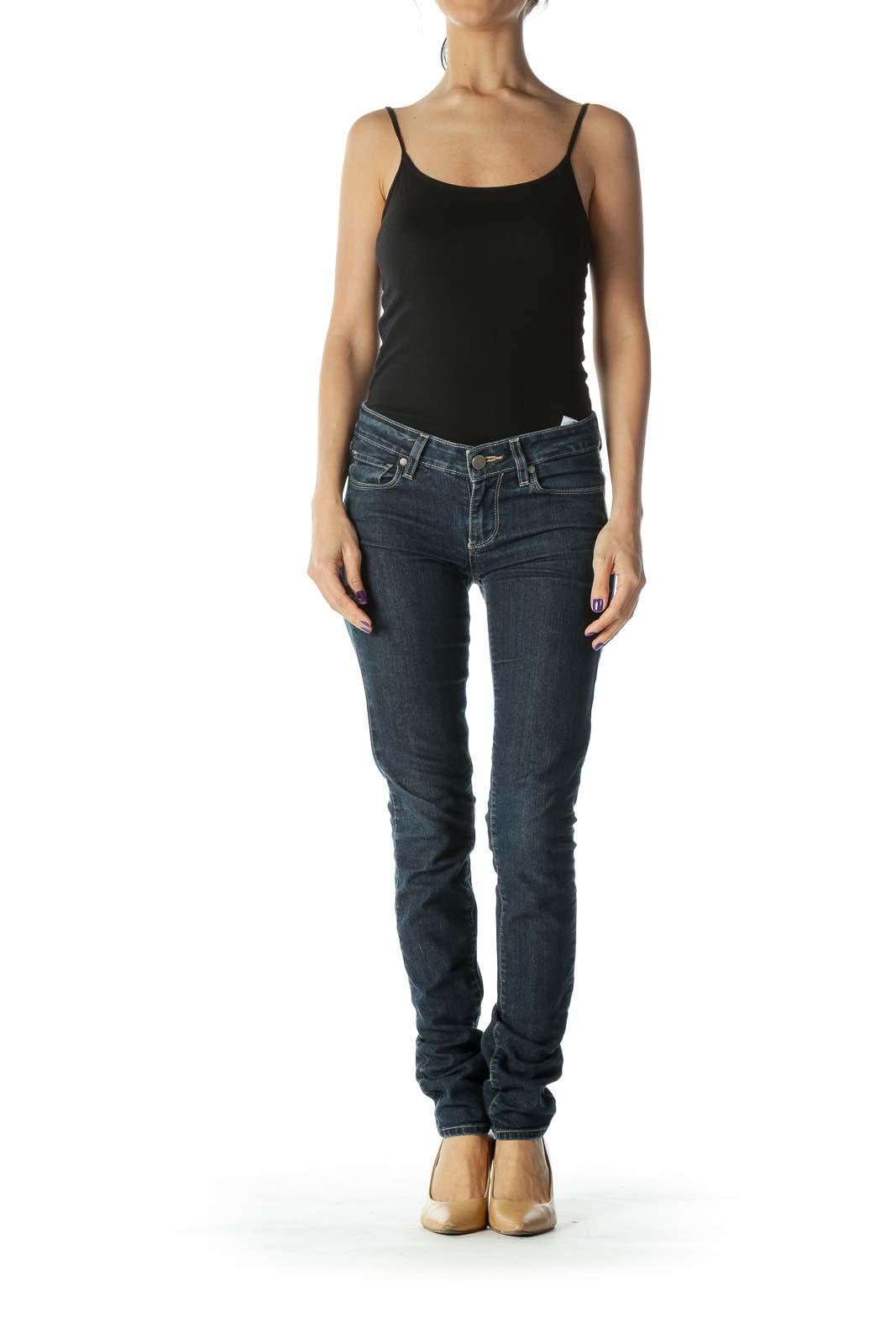 Blue Slim Fit Low Rise Denim Jean