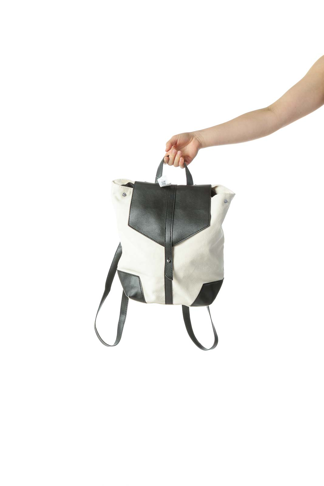 Cream Vegan Leather Backpack