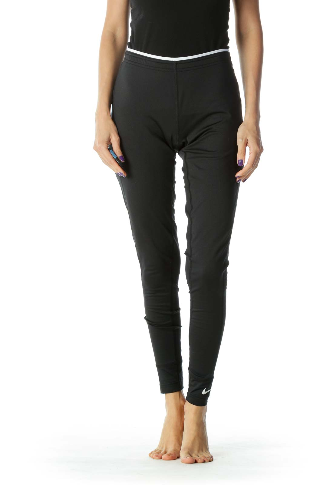 Black and White Low Rise Legging