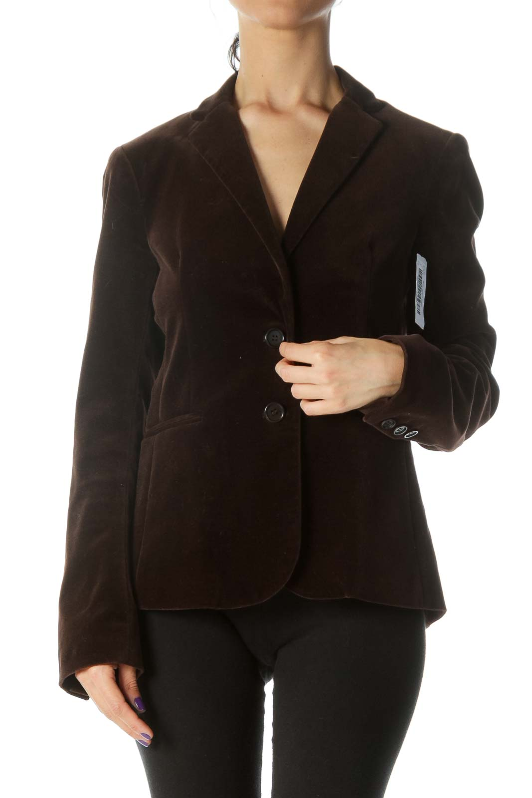 Brown Double Button Blazer