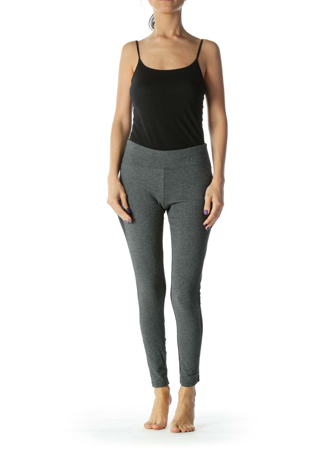 Black and Grey Cropped Legging