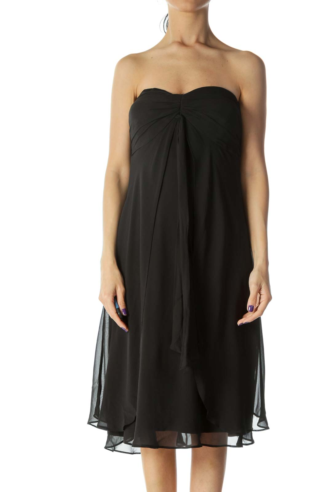 Black Silk Evening Dress