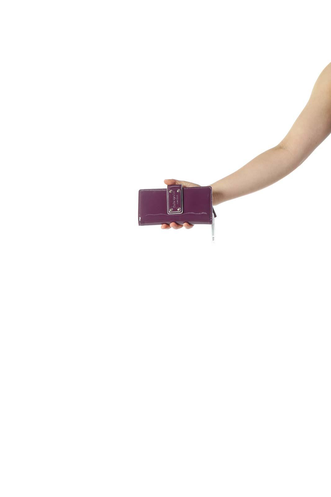 Purple Patent Wallet Clutch