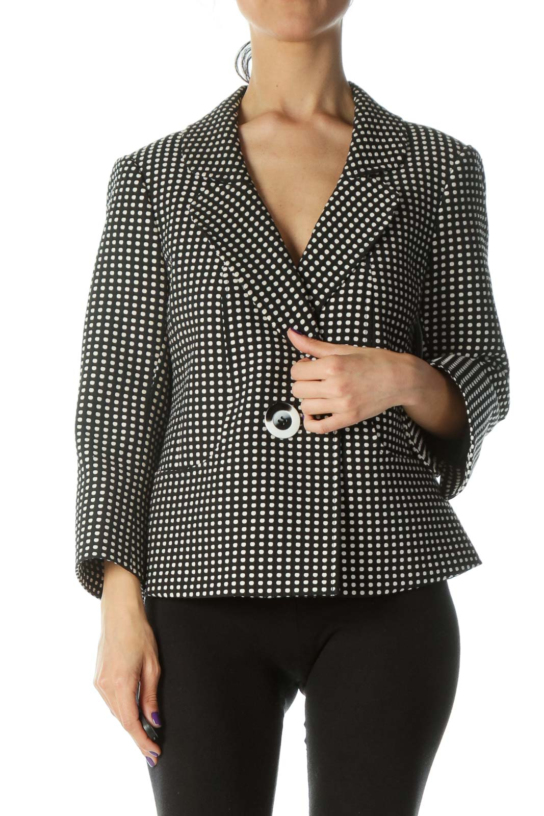 Black Polka-Dot Jacket