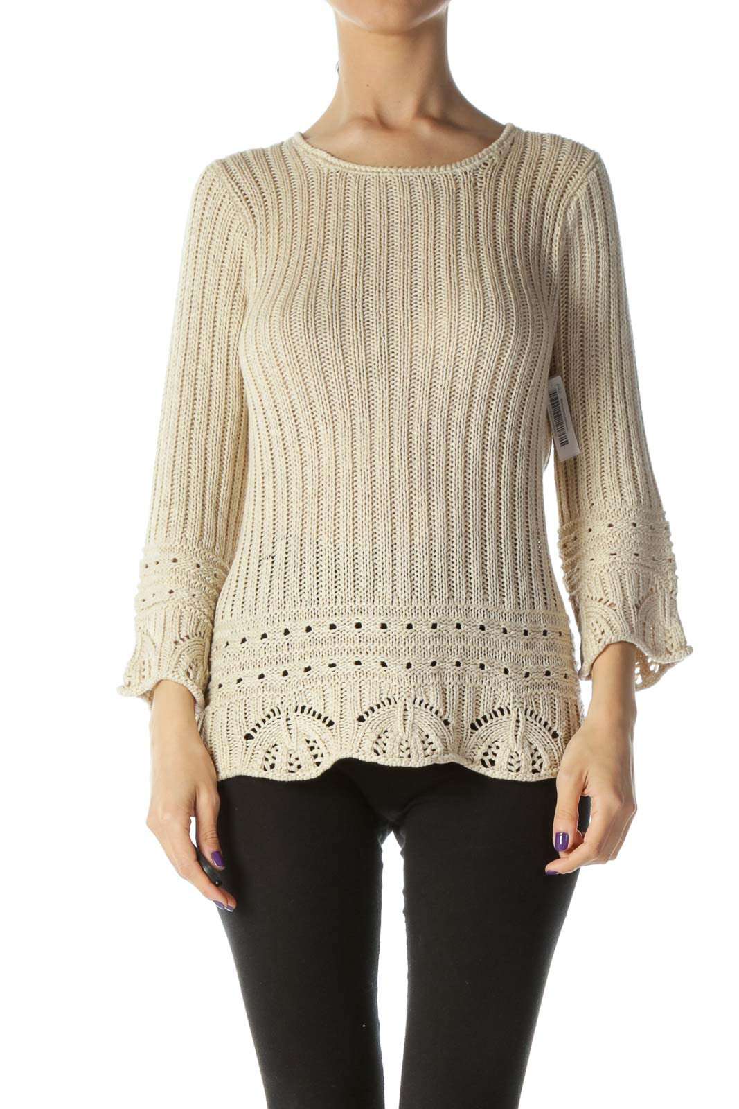Beige Loose Knit Sweater