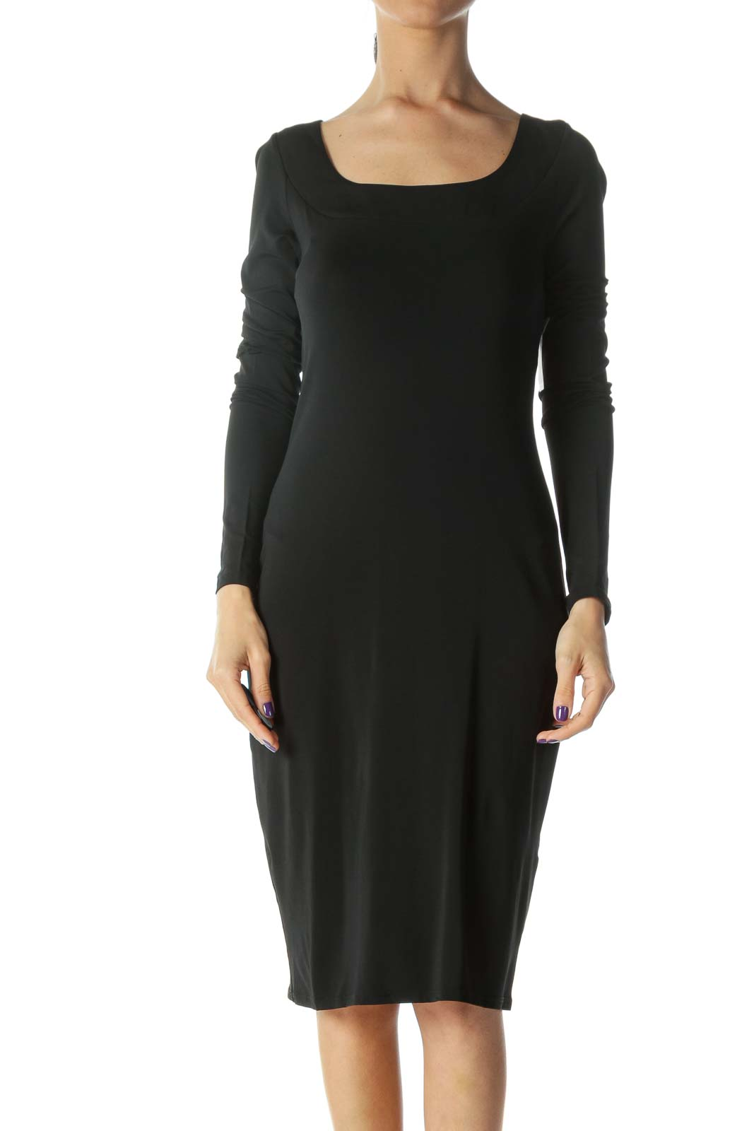 Black Cowl Back Dress