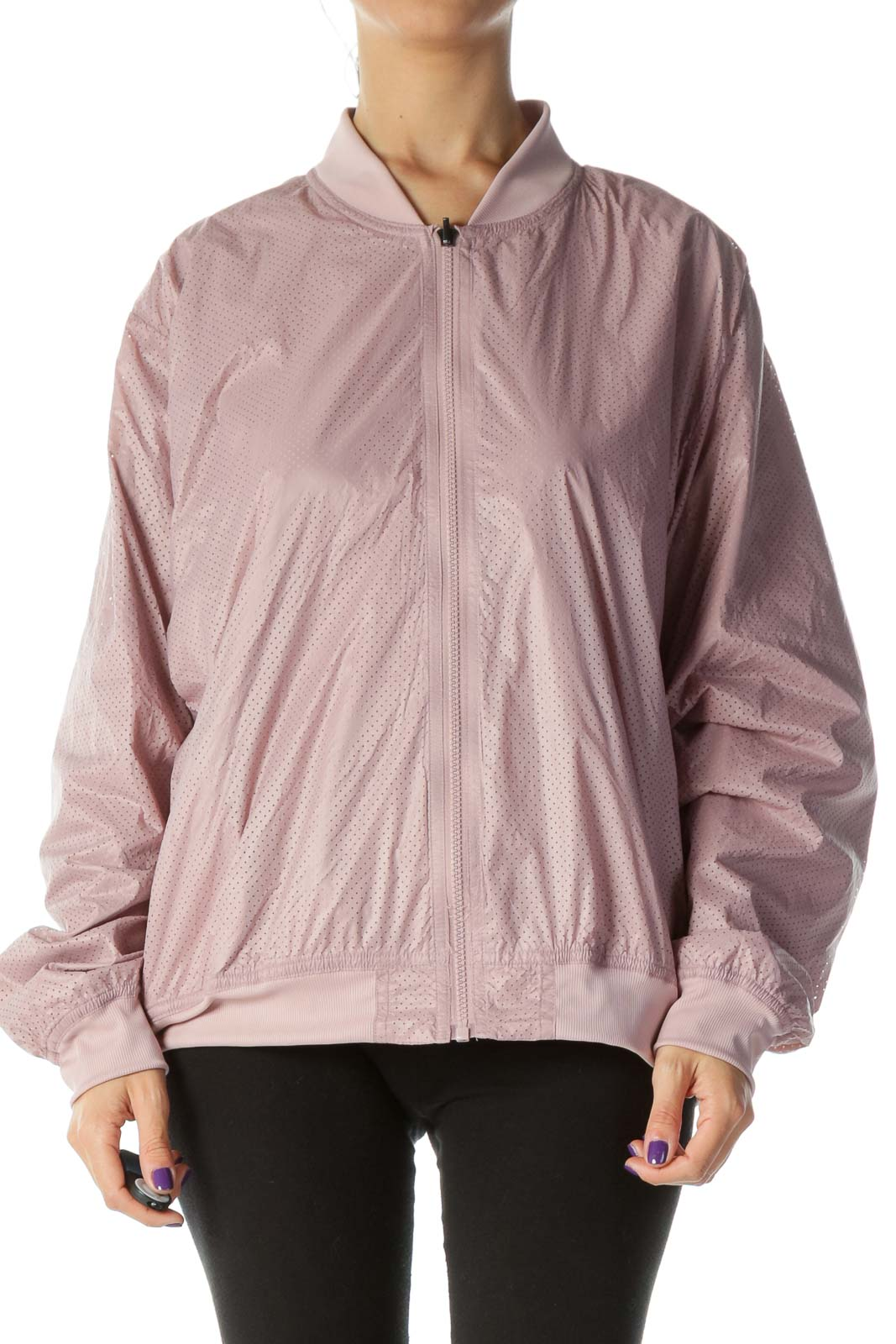 Dusty Pink Reversible Bomber Jacket