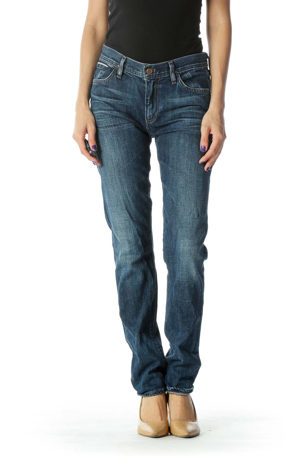 Blue Faded Skinny Jean