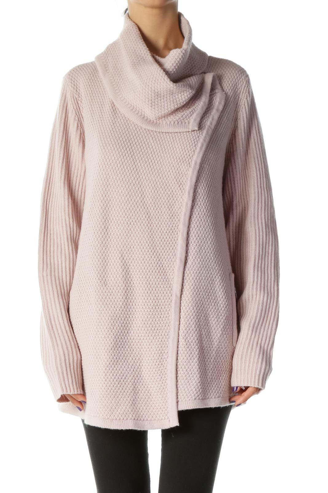 Dusty Pink Loose Knit Cardigan